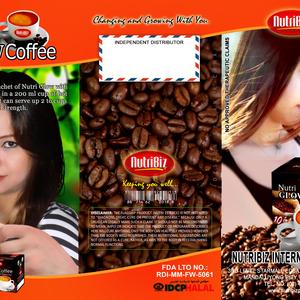 Nutri glow coffee tri fold brochure outer