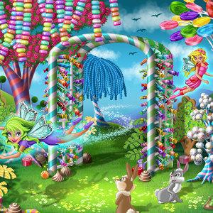 Lg illus candy garden gate