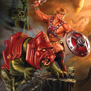 He man and battle cat print