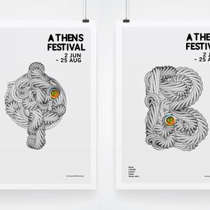 Designpark greek festival poster processing type