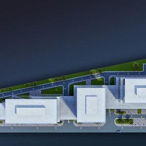 3d architectural render mockup 3