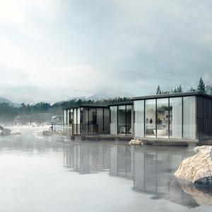 Atmosvisuals 3d illustration architecture visualisation lakehouse series exterior main